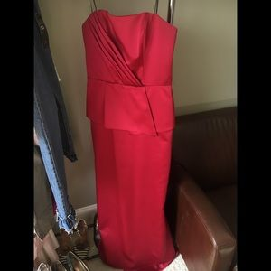 Deep Red Evening Gown